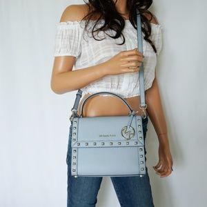 Michael Kors Dillon MD Crossbody Bag Pale Blue